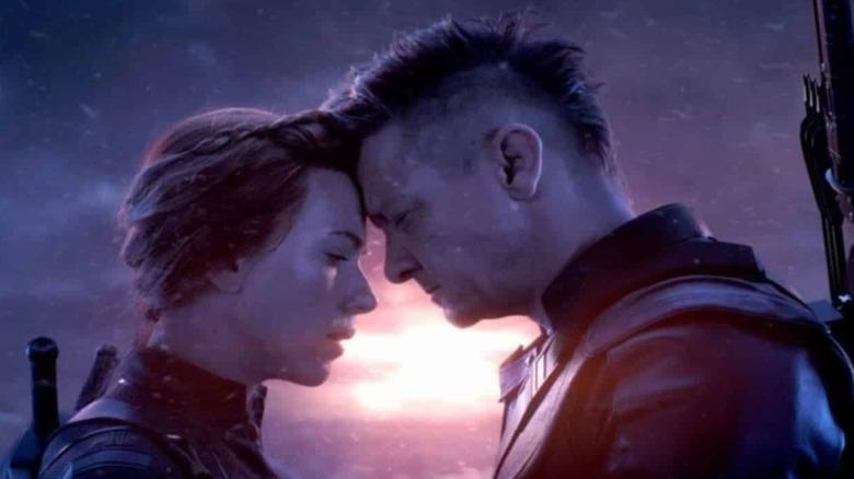 Black Widow and Hawkeye say goodbye