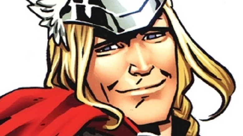 Thor smiling