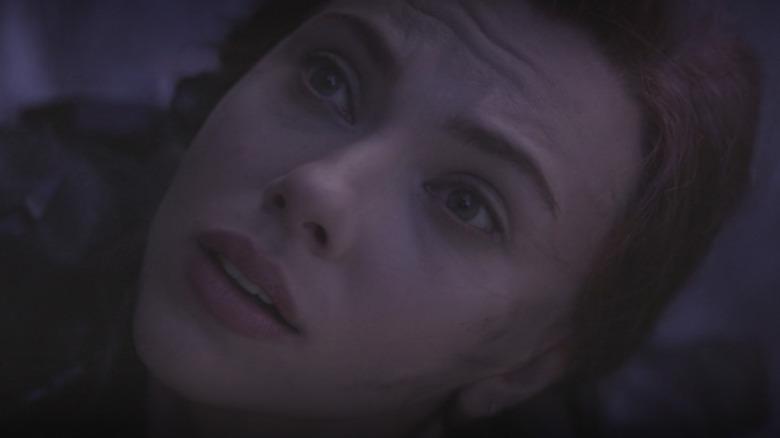 Black Widow looks scared