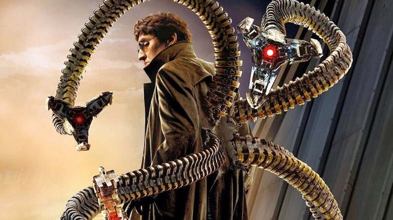 Alfred Molina as Doc Ock in Spider-Man 2 poster