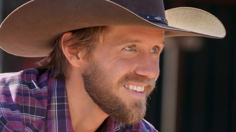 Matt Barr in a cowboy hat