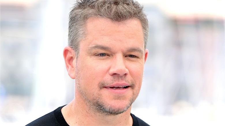 Matt Damon smiling