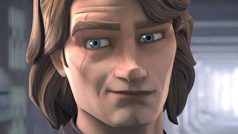Anakin Skywalker smirking