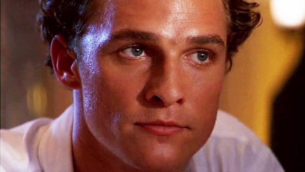 Matthew McConaughey sweating