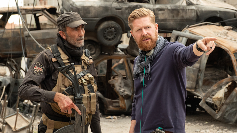 Suhail Dabbach and Matthew Michael Carnahan on the set of Mosul