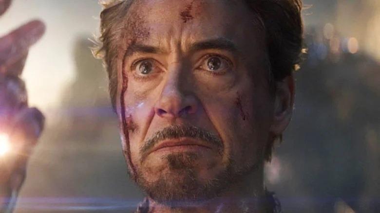 Tony Stark snaps at Thanos