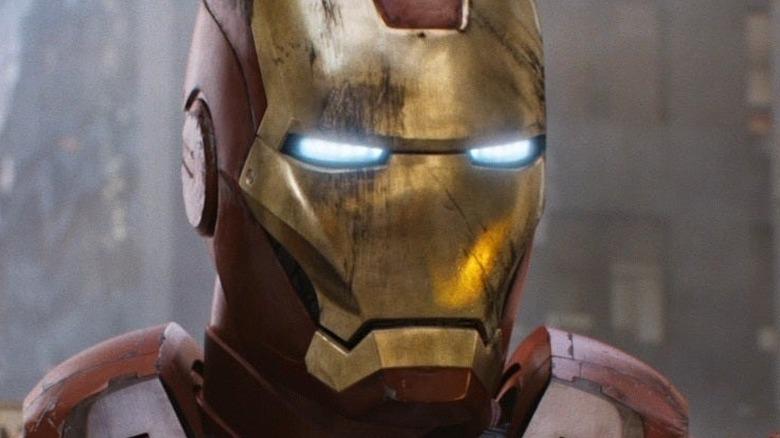 Iron Man in battle
