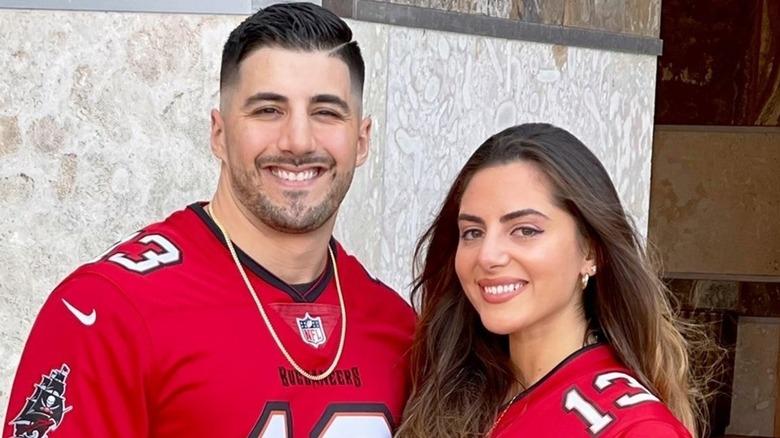 Nick and Emumita at Super Bowl