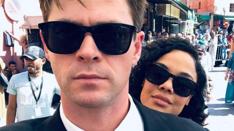 Chris Hemsworth and Tessa Thompson Men in Black
