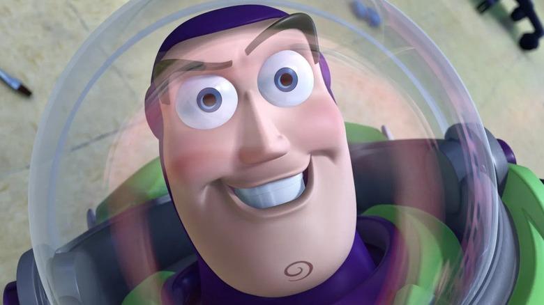 Buzz Lightyear grins
