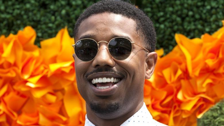 Michael B. Jordan wearing sunglasses