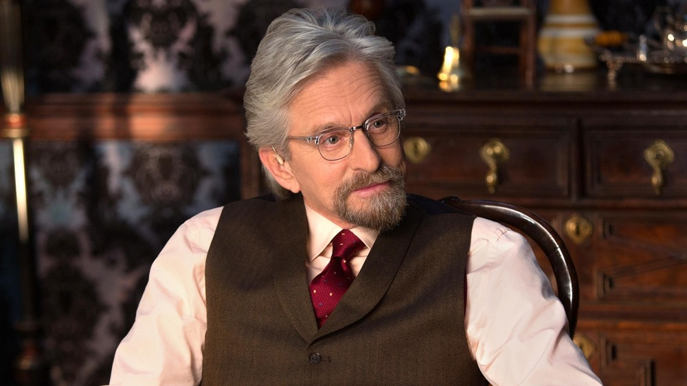 Hank Pym sits in his dining room