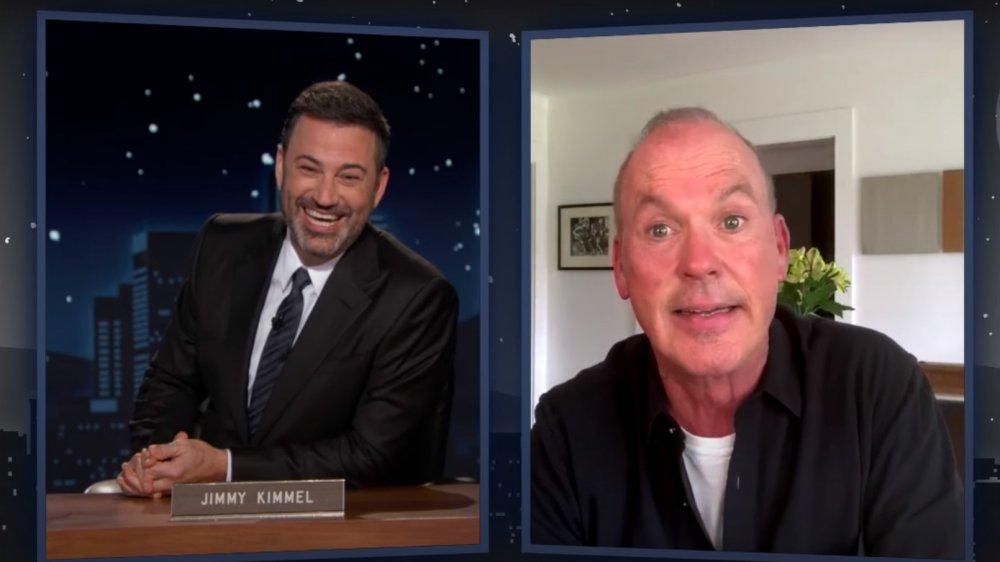 Michael Keaton and Jimmy Kimmel