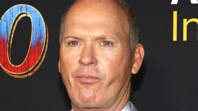 Michael Keaton posing