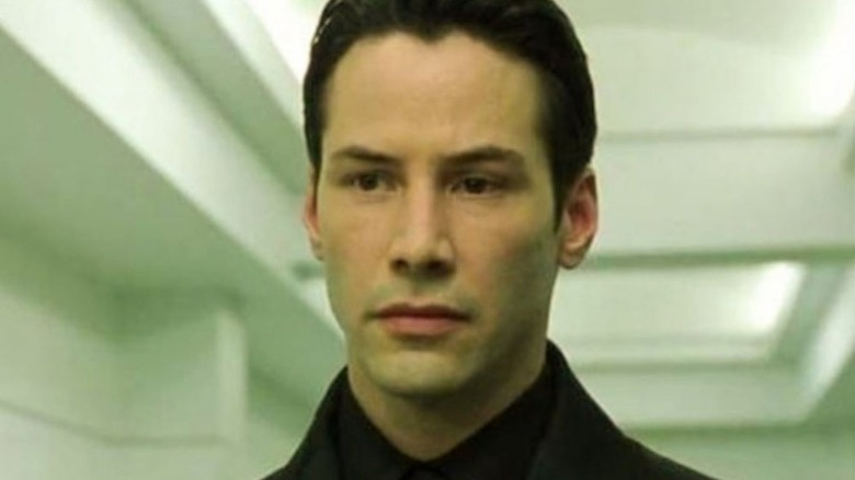 Keanu Reeves as Neo in The Matrix