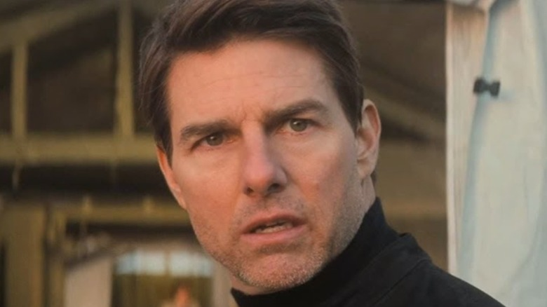 Ethan Hunt looking to his left