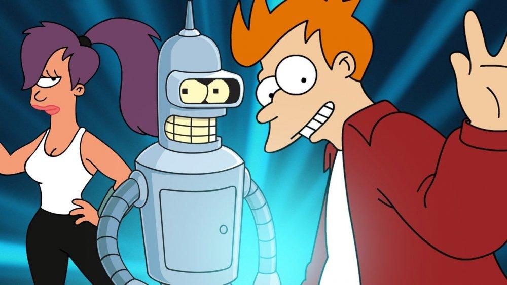 Leela, Bender, Fry