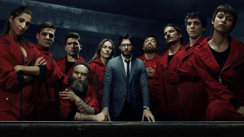 the cast of Netflix's Money Heist