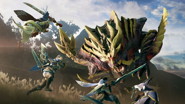 monster hunter rise, capcom, nintendo, switch, release date, launch, trailer, video, characters, monsters, flagship