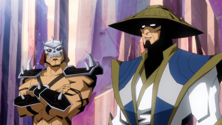 Raiden and Shao Kahn talking