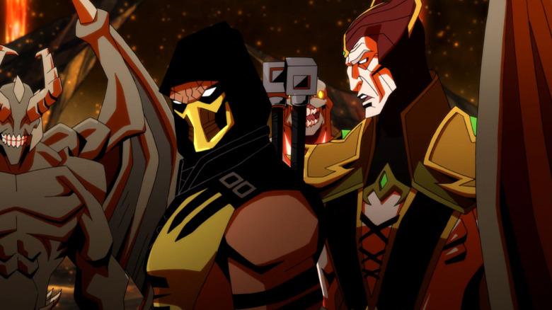Scorpion and Shinnok talking