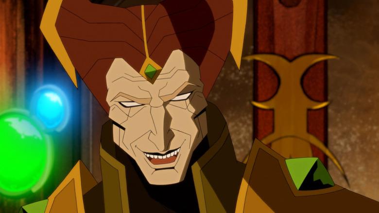 Shinnok smiling