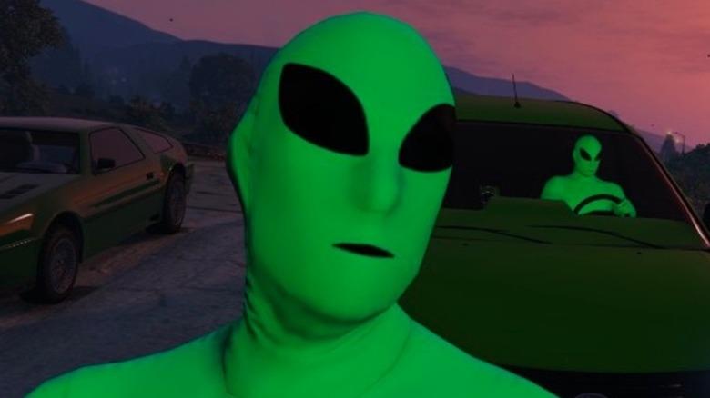 green alien costume gta