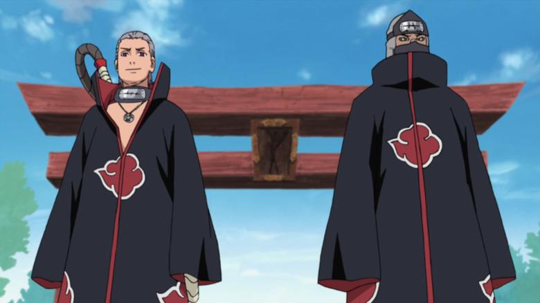 Hidan and Kakuzu stare