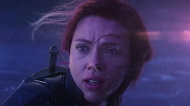 Black Widow in her death scene