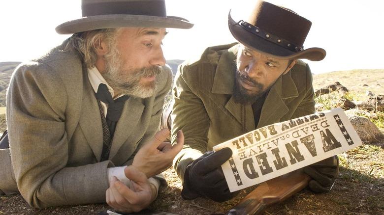 Jamie Foxx as Django Freeman and Christoph Waltz as Dr. King Schultz in Django Unchained