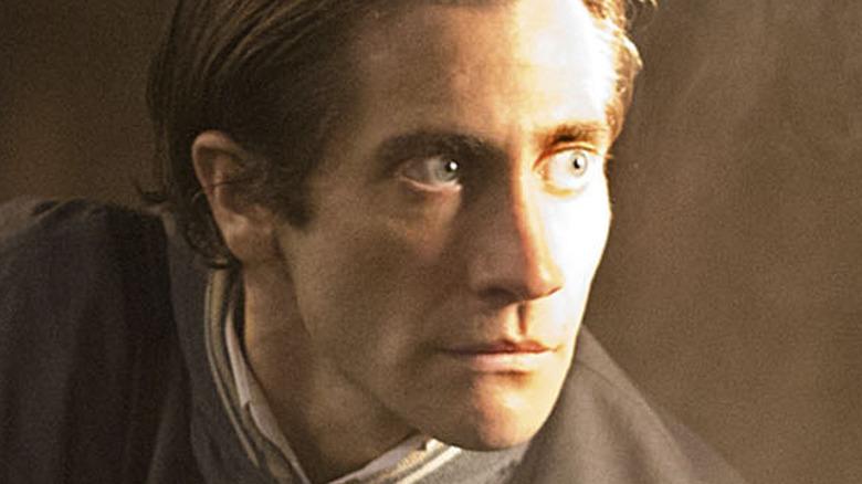 Jake Gyllenhaal stares into light