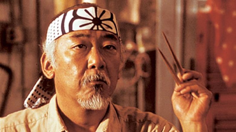 Pat Morita as Mr. Miyagi in The Karate Kid
