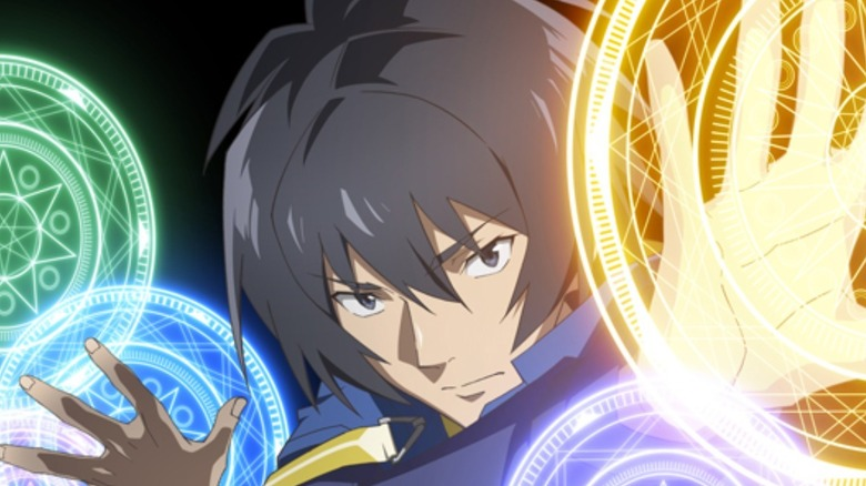 Yuji casting some magical spells