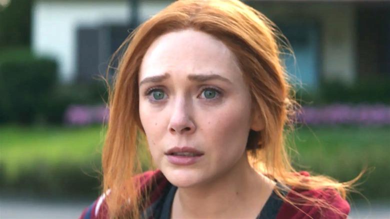Wanda of MCU looks upset