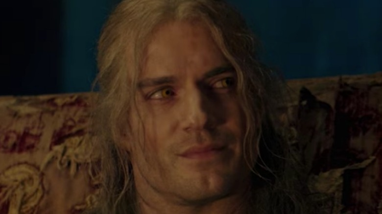 Geralt grinning on The Witcher