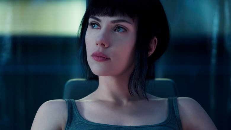 Scarlett Johansson in the Ghost in the Shell movie