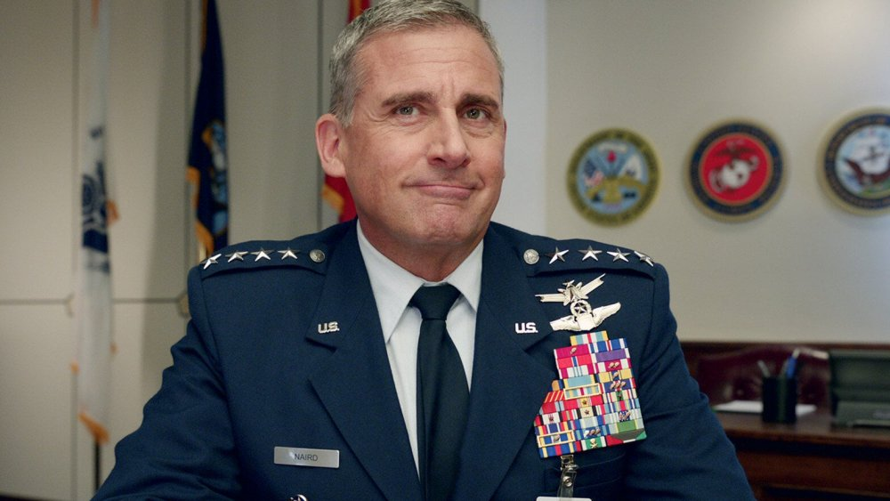 Steve Carell as General Mark Naird on Netflix's Space Force