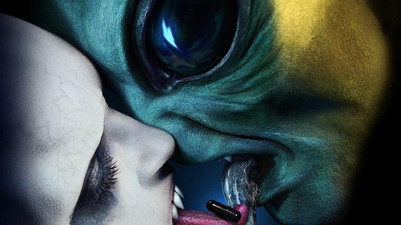 Alien kissing weird tooth guy