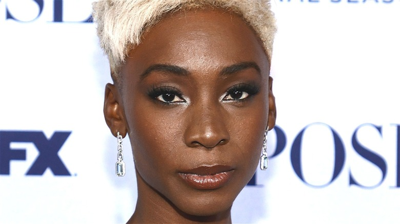 Angelica Ross with short blonde hair