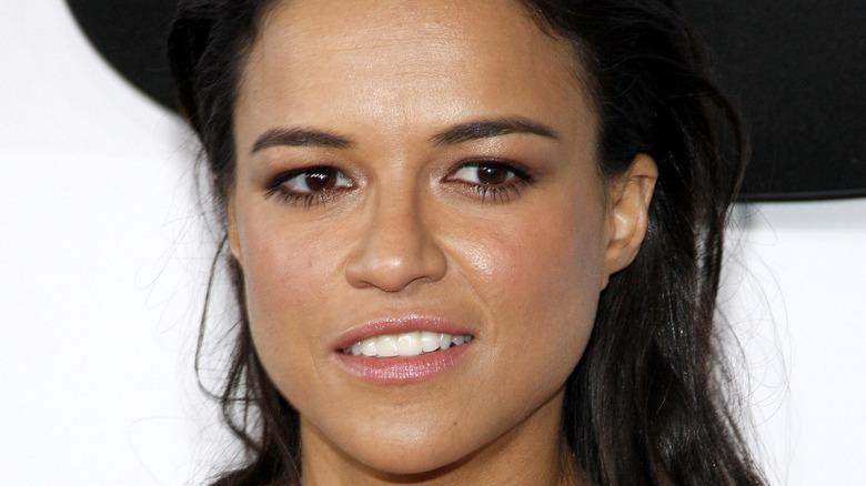 Michelle Rodriguez white teeth