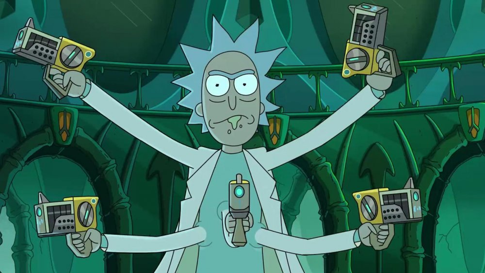 Rick with extra arms on Rick and Morty season 4 part 2