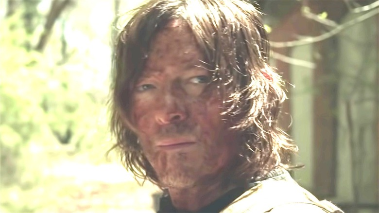 Daryl Dixon with blood on his face