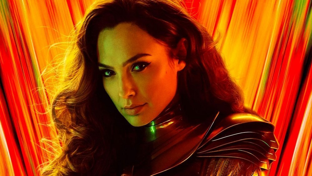 Gal Gadot in the poster for Wonder Woman 1984