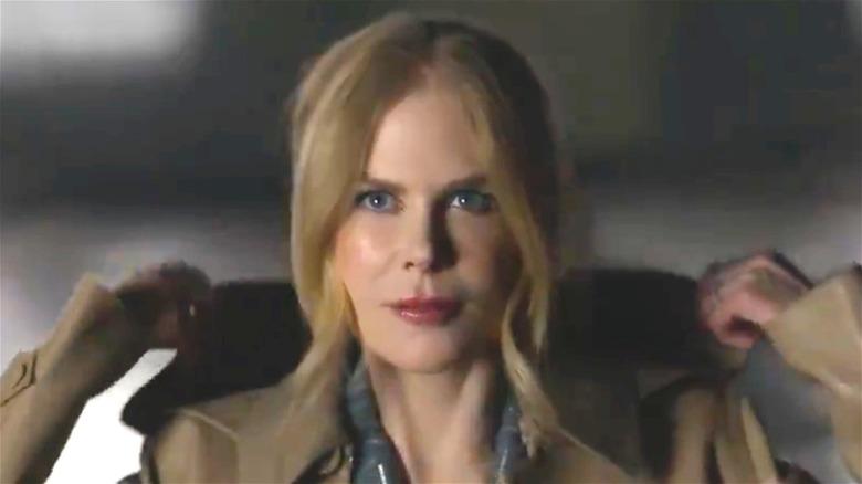 Nicole Kidman AMC Theatres Raincoat Lighting