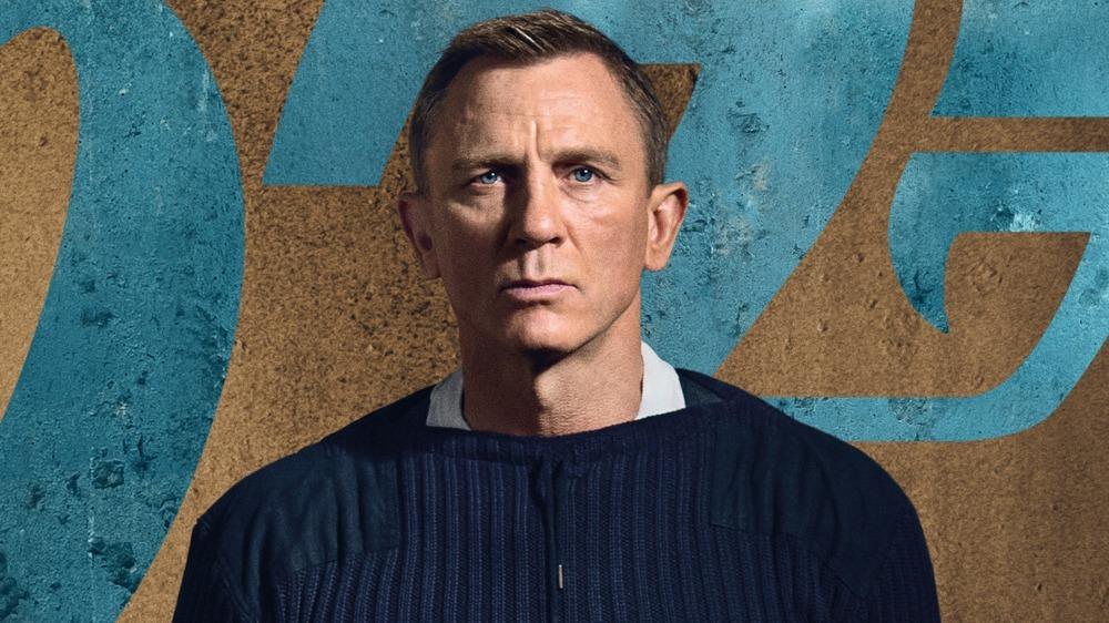 Daniel Craig looking stern as James Bond