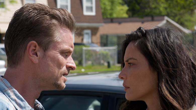 Shea Whigham as Parker and Olivia Munn as Dahlia in The Gateway
