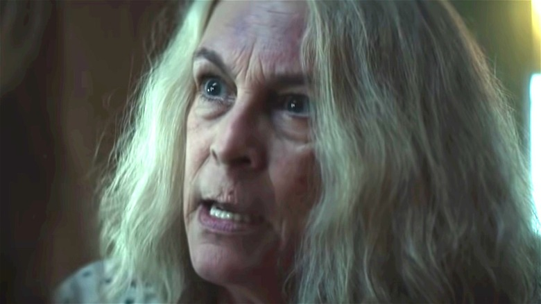 Laurie Strode panicking