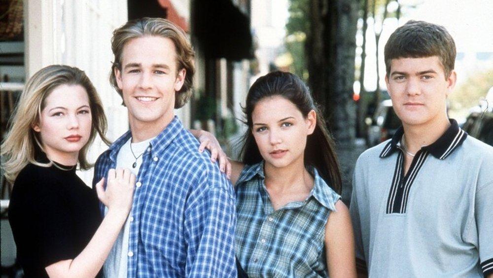 Michelle Williams, James Van Der Beek, Katie Holmes and Joshua Jackson in Dawson's Creek