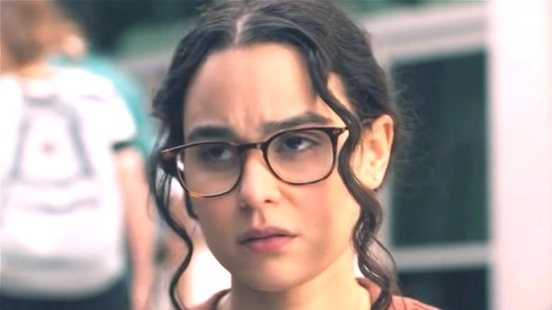 Bronwyn wearing glasses