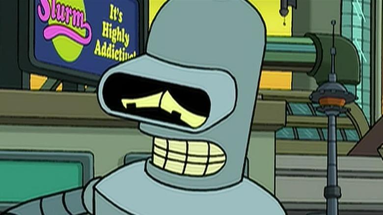 Bender looking sad